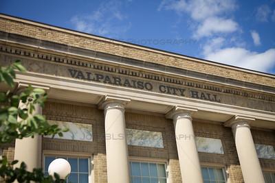 Valparaiso, Indiana City Hall on Lincolnway