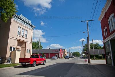 Downtown Wheatfield, Indiana in Jasper County