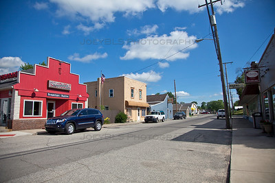 Downtown Wheatfield, Indiana in Jasper County