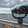 Tower Viewer Binoculars Looking at Chicago from Whiting, Indiana