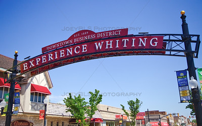 Experience Downtown Whiting, Indiana Welcome Sign
