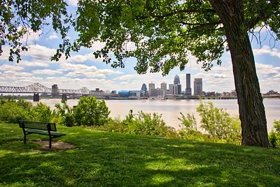 A Moody Louisville, Kentucky Skyline