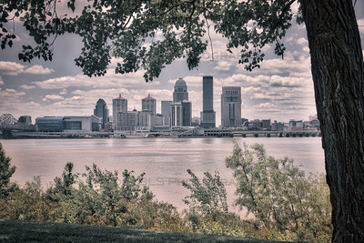 Downtown Louisville, Kentucky Over the Ohio River