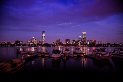 Boston Skyline on the Charles River - Evening