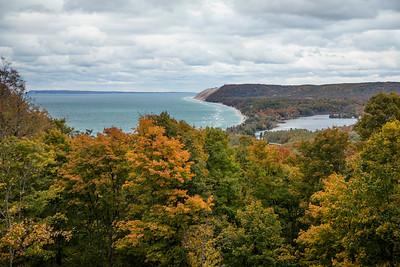 The Empire Bluffs in the Fall near Empire, Michigan