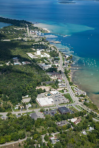Aerial of Greilickville, Michigan in the Summer - 2013