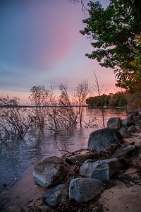 Vibrant Sunset on Grand Traverse West Bay in Greilickville, Michigan