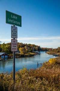 Lake Leelanau Narrows in the Fall