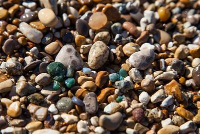 Beach Rocks in Leland, Michigan