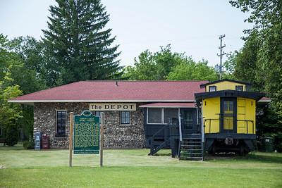 Northport Train Depot in Northern Michigan