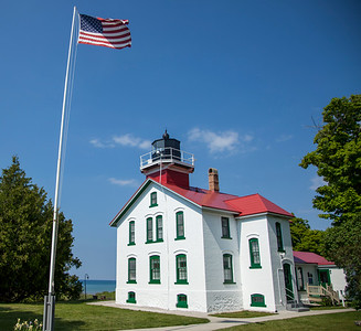 Grand Traverse Lighthouse in the Summer
