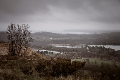 Dark and Dreary Sleeping Bear Dunes Overlook