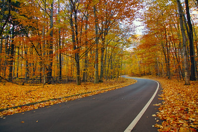 Sleeping Bear Dunes Pierce Stocking Scenic Drive Fall Evening