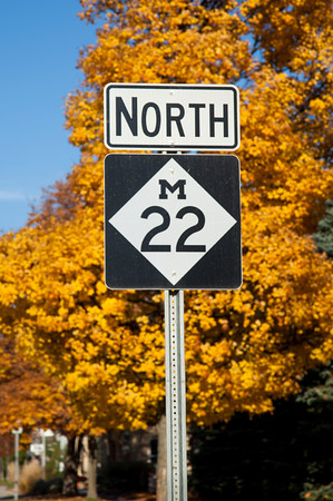 M22 Near Suttons Bay, Michigan