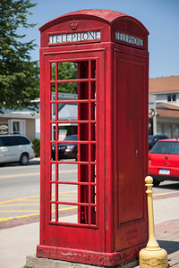 Old Fashioned Phonebooth in Suttons Bay, Michigan