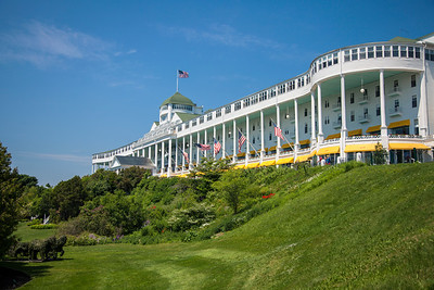 The Grand Hotel on Mackinac Island on a Summer Day