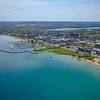 Aerial Clinch Marina in Traverse City and the City Park