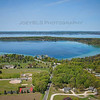 Aerial photo of the Old Mission Peninsula in Traverse City, Michigan