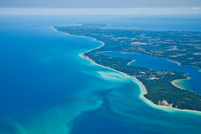 Aerial photo over Leelanau County near Leland, Michigan