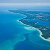 Aerial photo over Leelanau County near Leland, Michigan