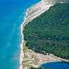 Aerial photo of Sleeping Bear Dunes State Park in Northern Michigan