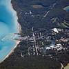 Aerial photo of Leland, Michigan in Leelanau County