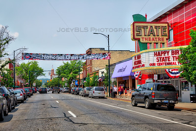 National Cherry Festival 2015 Banner Over Front Street in Traverse City