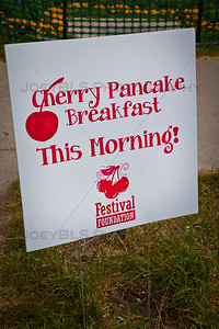 Cherry Pancake Breakfast at the National Cherry Festival in Traverse City