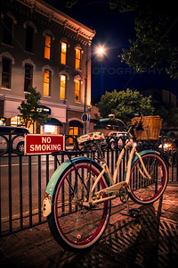Bicycle in Downtown Traverse City, Michigan