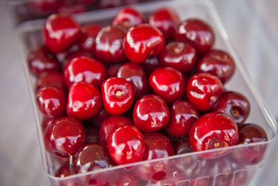 Container of Cherries