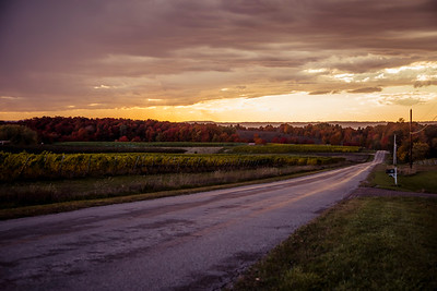 Road Leads to Sunset near Traverse City, Michigan