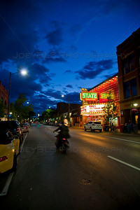 Front Street at Night in Traverse City