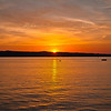 Sunset over Grand Traverse Bay
