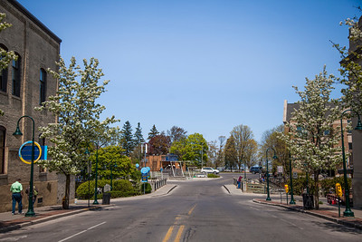 Cass and Front Street in Traverse City, Michigan - Spring