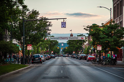 Downtown Traverse City, Michigan during the National Cherry Festival