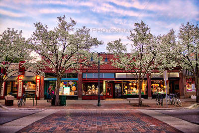 Spring along Front Street in Downtown Traverse City, Michigan