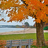 Fall in Traverse City along the Grand Traverse Bay
