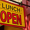 Lunch Open Sign