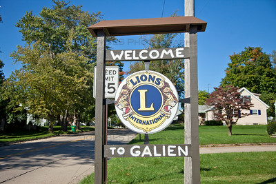 Welcome Sign in Galien, Michigan