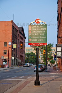 Downtown Grand Rapids Directional Sign