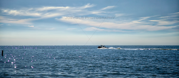 Boating on Lake Michigan in Michiana, Michigan