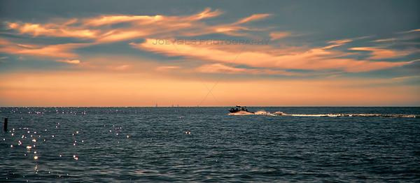Boating on Lake Michigan in Michiana, Michigan