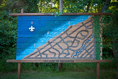 Michiana Shores, Indiana Welcome Map Board