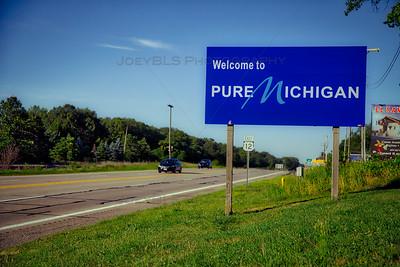Pure Michigan Sign along US 12 in Michiana, Michigan
