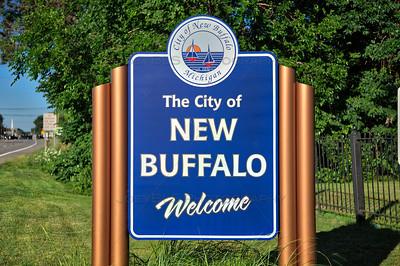 New Buffalo, Michigan Welcome Sign