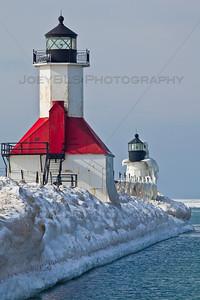 St. Joseph, Michigan Lighthouse in Winter