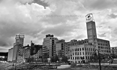 Historic Mill City Ruins in Minneapolis, MN. Located just outside of downtown Minneapolis along the Mississippi River.