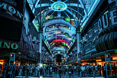 The Fremont Street Experience in downtown Las Vegas, Nevada