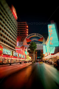The Streets of downtown Las Vegas