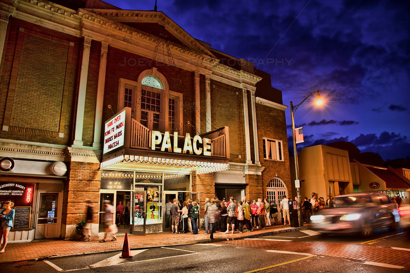 The Palace Theater in Lake Placid, NY on a crowded night.